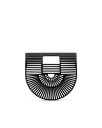 schwarze Shopper Tasche aus Stroh von Cult Gaia
