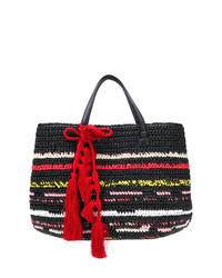 schwarze Shopper Tasche aus Stroh von Ermanno Scervino