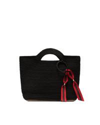 schwarze Shopper Tasche aus Stroh von SENSI STUDIO