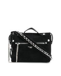 schwarze Shopper Tasche aus Wildleder von Balmain