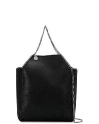 schwarze Shopper Tasche aus Wildleder von Stella McCartney