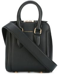 schwarze Shopper Tasche von Alexander McQueen