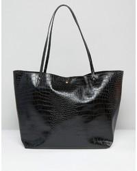 schwarze Shopper Tasche von Asos