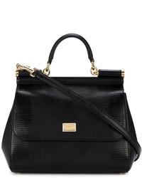 schwarze Shopper Tasche von Dolce & Gabbana