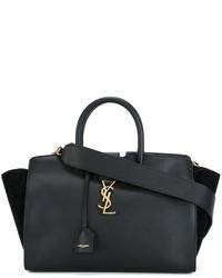 schwarze Shopper Tasche von Saint Laurent