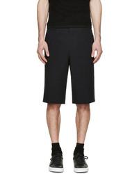 schwarze Shorts aus Seersucker von Givenchy