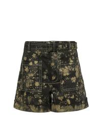 schwarze Mit Batikmuster Shorts von Proenza Schouler