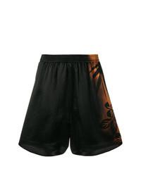 schwarze Shorts mit Blumenmuster von Maison Margiela