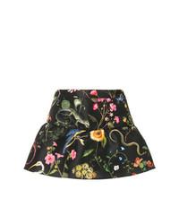 schwarze Shorts mit Blumenmuster von RED Valentino