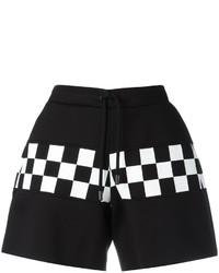 schwarze Shorts mit Karomuster von Dsquared2