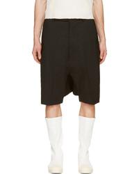 schwarze Shorts von Rick Owens