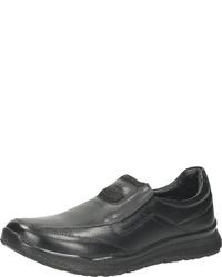 schwarze Slip-On Sneakers aus Leder von Bama