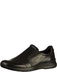 schwarze Slip-On Sneakers aus Leder von Ecco
