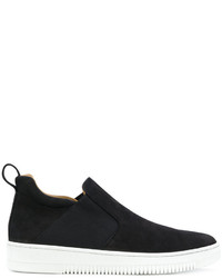 schwarze Slip-On Sneakers aus Leder von Eleventy