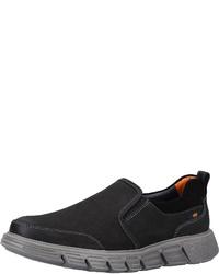 schwarze Slip-On Sneakers aus Leder von FRETZ men