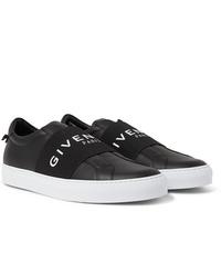 schwarze Slip-On Sneakers aus Leder von Givenchy