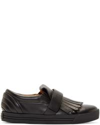schwarze Slip-On Sneakers aus Leder von Marc Jacobs