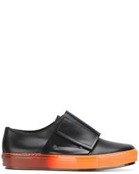 schwarze Slip-On Sneakers aus Leder von Marni