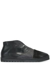 schwarze Slip-On Sneakers aus Leder von Marsèll
