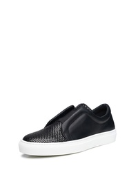 schwarze Slip-On Sneakers aus Leder von SHOEPASSION