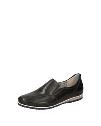schwarze Slip-On Sneakers aus Leder von Sioux