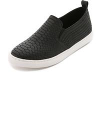schwarze Slip-On Sneakers aus Leder von Splendid