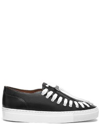 Schwarze Slip-On Sneakers aus Leder von Swear