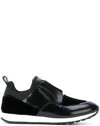 schwarze Slip-On Sneakers aus Leder von Tod's