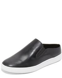 schwarze Slip-On Sneakers aus Leder von Vince