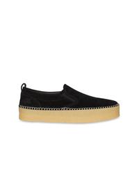 schwarze Slip-On Sneakers aus Wildleder von Burberry