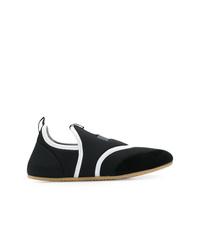 schwarze Slip-On Sneakers aus Wildleder von Isabel Marant
