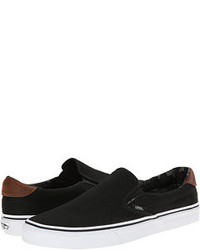 schwarze Slip-On Sneakers