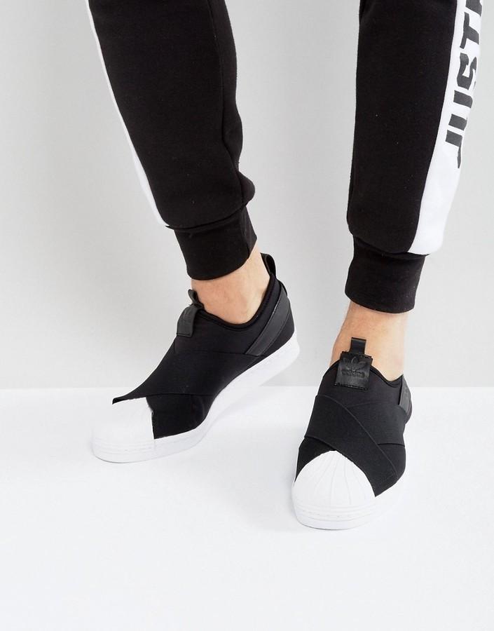 schwarze Slip On Sneakers von adidas