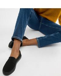 schwarze Slip-On Sneakers von ASOS DESIGN