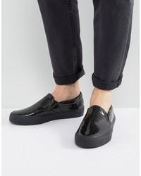 schwarze Slip-On Sneakers von Asos