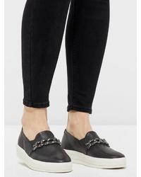 schwarze Slip-On Sneakers von Bianco
