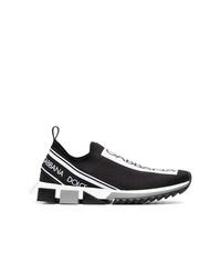 schwarze Slip-On Sneakers von Dolce & Gabbana