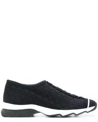 schwarze Slip-On Sneakers von Fendi