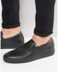 schwarze Slip-On Sneakers von Hugo Boss