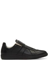 schwarze Slip-On Sneakers von Maison Margiela