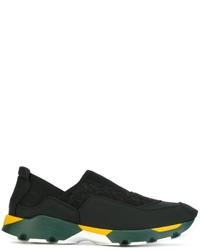 schwarze Slip-On Sneakers von Marni