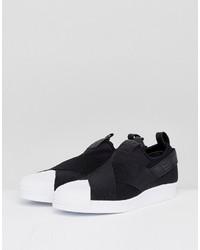 schwarze Slip On Sneakers von adidas, €81 | Asos | Lookastic