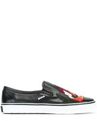 schwarze Slip-On Sneakers von RED Valentino