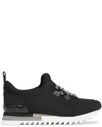 schwarze Slip-On Sneakers von Tory Burch