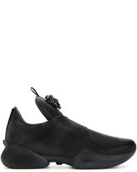schwarze Slip-On Sneakers von Versace