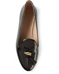 Schwarze slipper mit quasten original 2577075