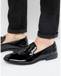 schwarze Slipper mit Quasten von Asos