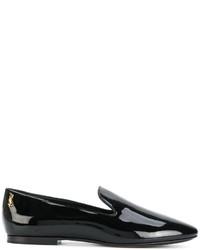 schwarze Slipper von Saint Laurent