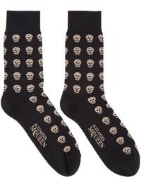 schwarze Socken von Alexander McQueen