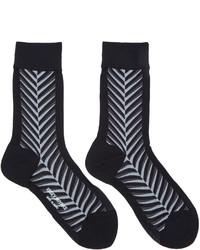 schwarze Socken von Issey Miyake